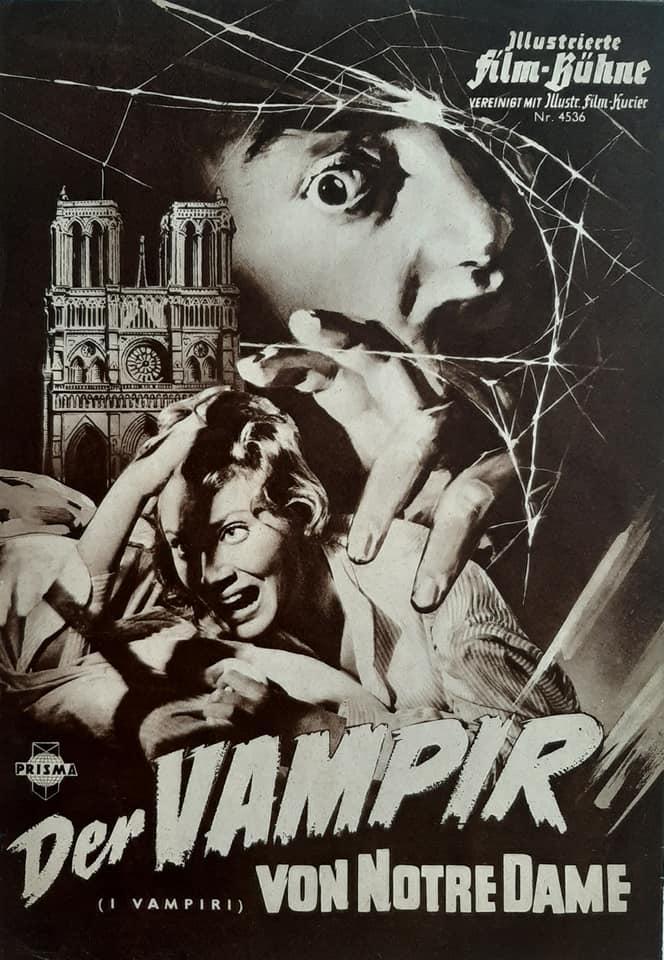 """Filmprogramme tedesco de """"I vampiri"""" di Riccardo Freda (1957), collezione personale"""