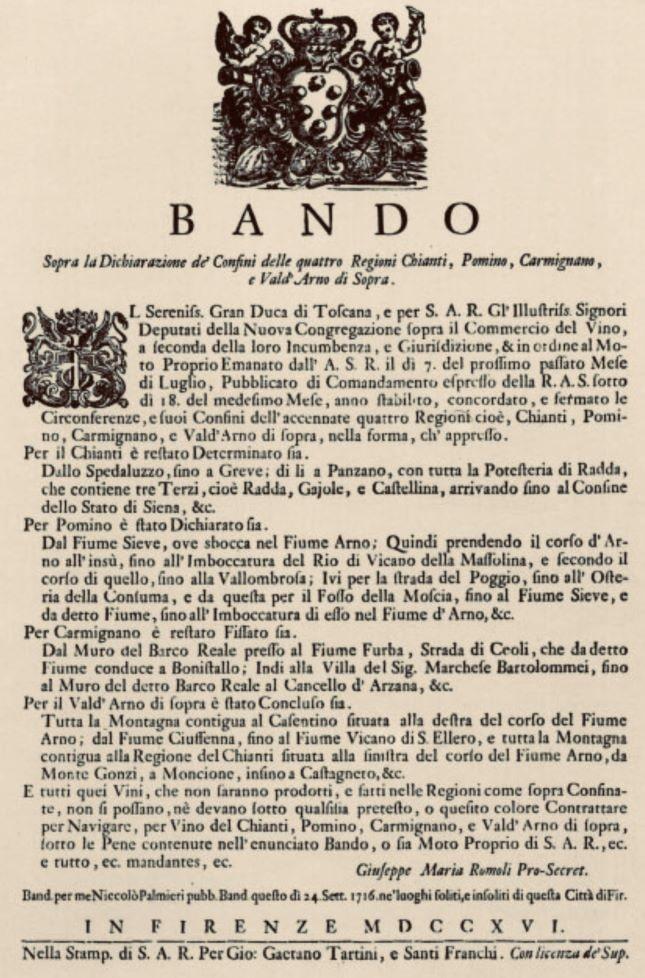 Bando CosimoIII 1716