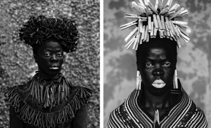 Left: Zanale Muholi - Hlonipha, Cassilhaus, Chapel Hill, North Carolina, 2016 © Zanele Muholi. Courtesy of Stevenson, Cape Town/Johannesburg and Yancey Richardson, New York / Right: Zanele Muholi - Bester I, Mayotte, 2015 © Zanele Muholi. Courtesy of Stevenson, Cape Town/Johannesburg and Yancey Richardson, New York