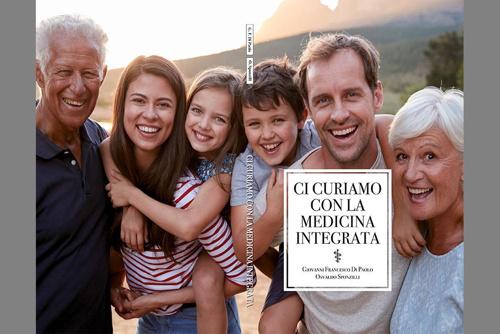 """copertina del libro: """"Ci curiamo con la Medicina Integrata"""""""