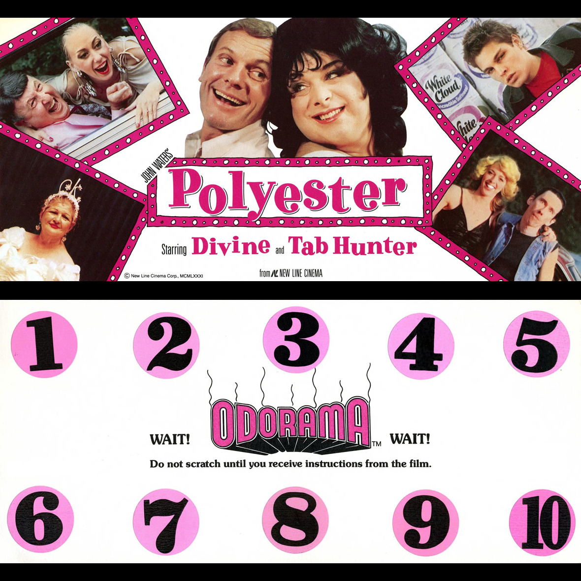 """È un film puzzesco!"" ""Odorama Card"" per il film ""Polyester"" di John Waters (1981)"