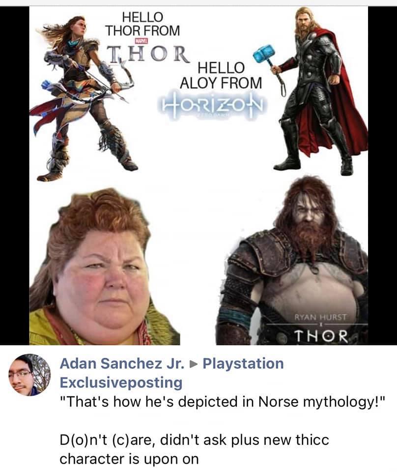Aloy Thor Meme